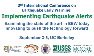 3rd International Conference on Earthquake Early Warning, September 3-5