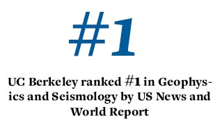 UC Berkeley ranked number one in geophysics and seismology