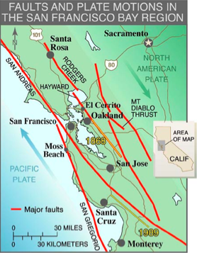 Bay Area Fault Map