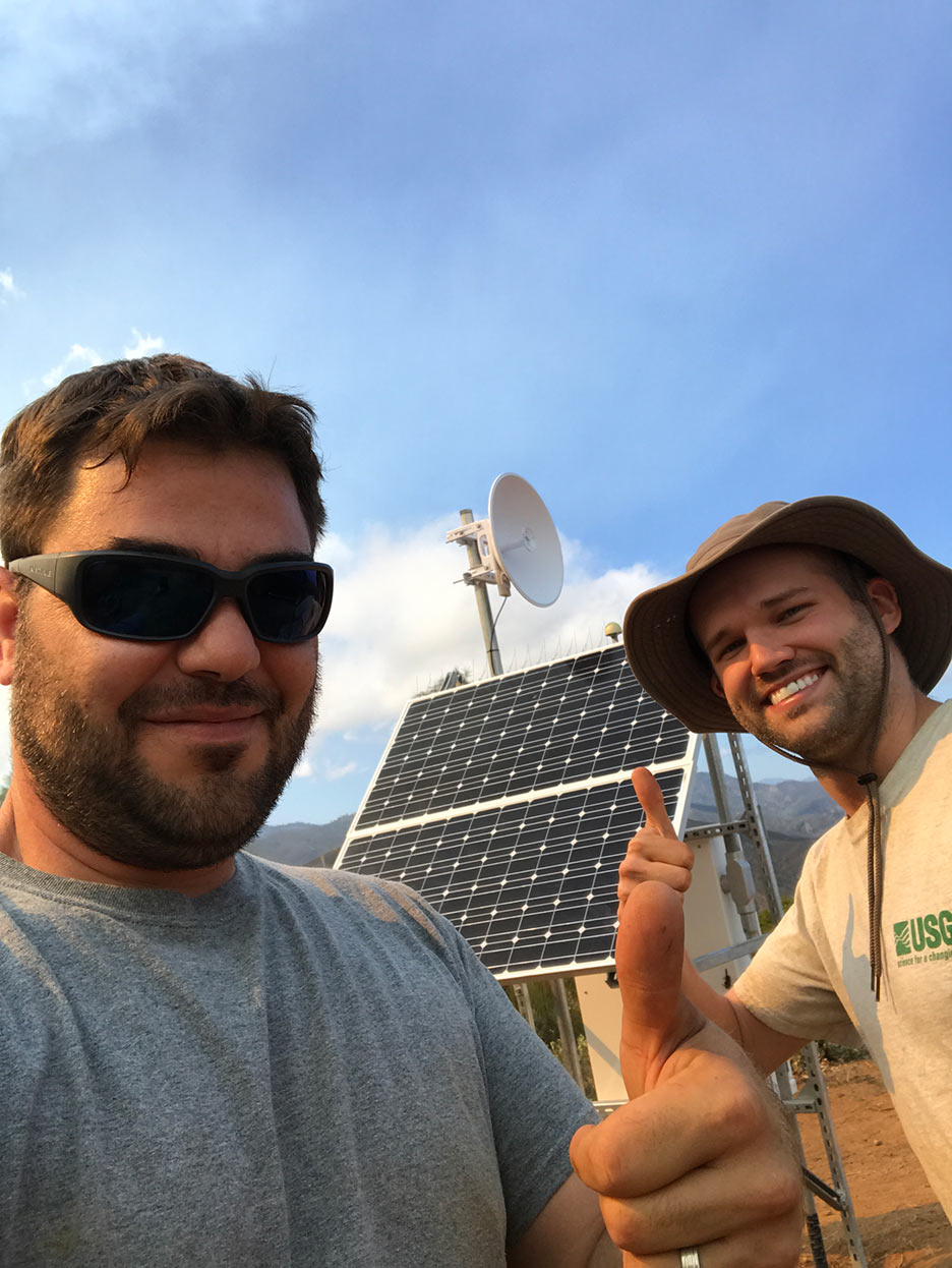 Engineers and solar panels at PETY