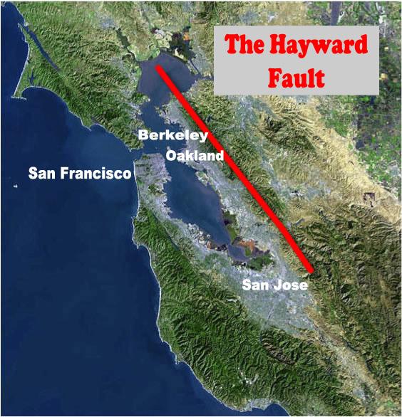 Hayward Fault Line Map The Hayward Fault